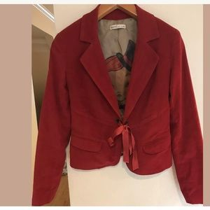 MISS POEM Fashion Collection Red Cotton Jacket
